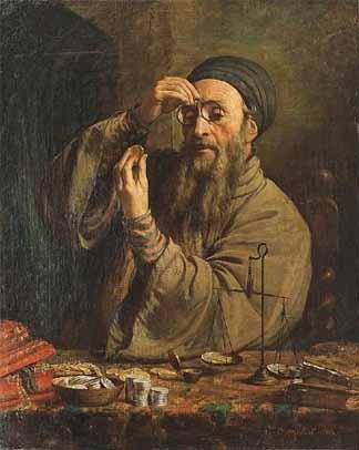 Jewish money lender.
