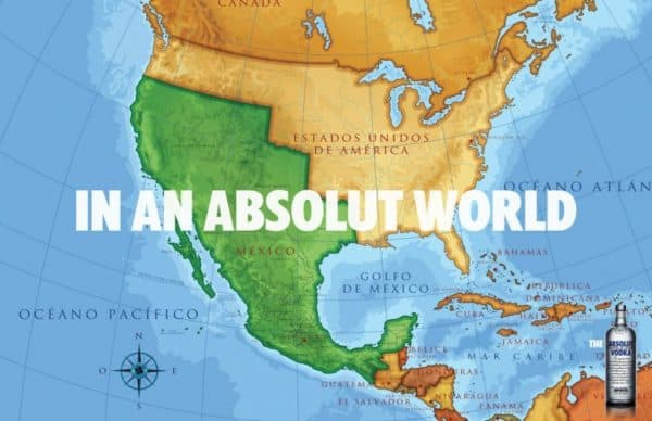 In an Absolut World Mexico Map