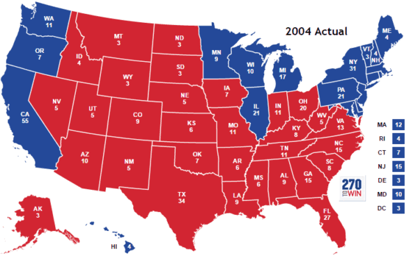 2004 Presidential Election Results Map