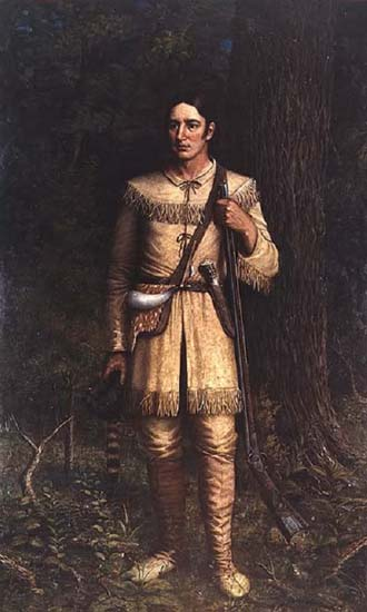 Davy Crockett by William Henry Huddle, 1889.