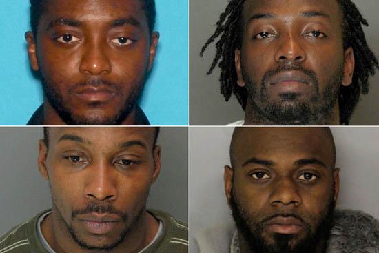 Four Black Mugshots