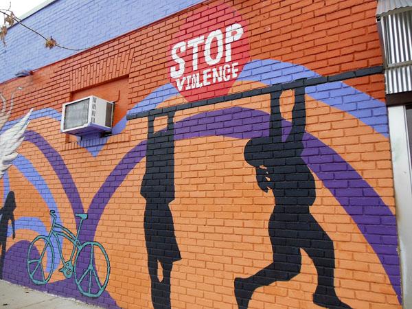 Stop Violence Mural Minneapolis Minnesota
