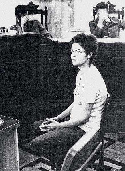 Mrs. Rousseff on trial in 1970.