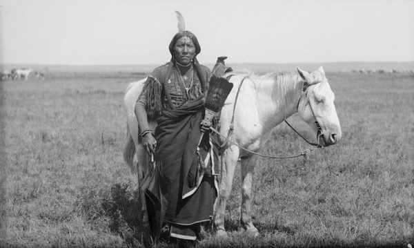 A 19th century Comanche warrior.
