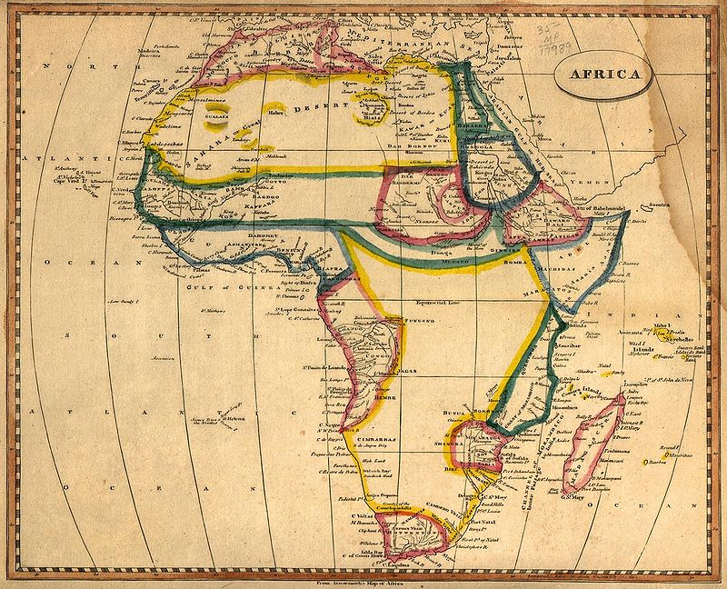Old Map of Africa