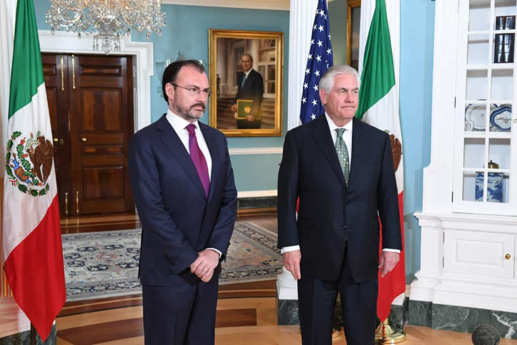 U.S. Secretary of State Rex Tillerson Meets with Mexican Foreign Secretary Luis Videgaray