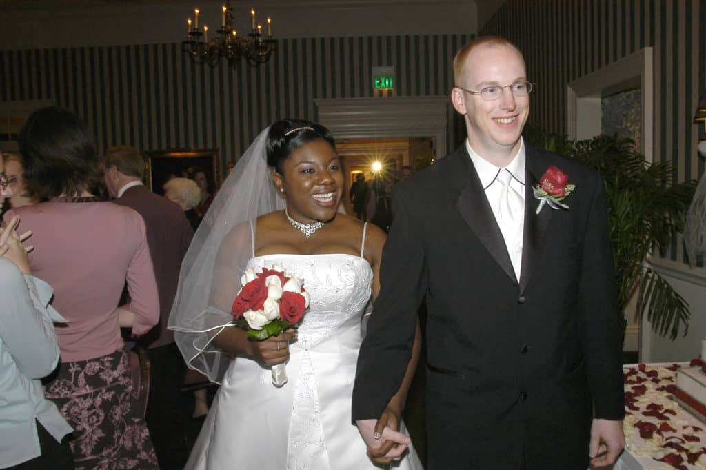 Interracial Couple Weds