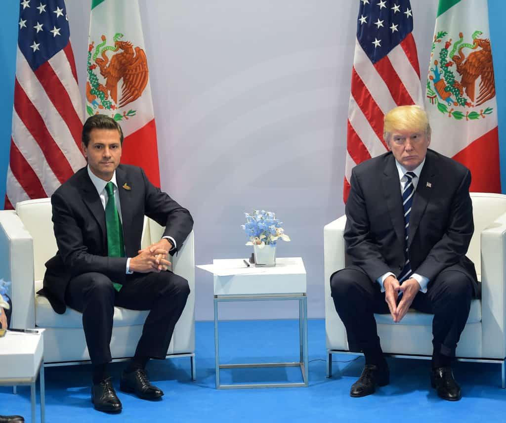 Donald Trump and Peña Nieto
