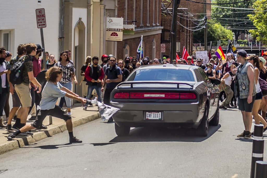 Car Hits Protesters in Charlottesville, Virginia