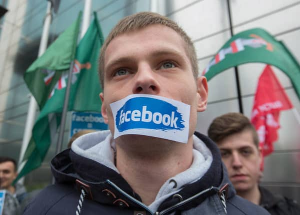 ONR Nationalists protest against Facebook block