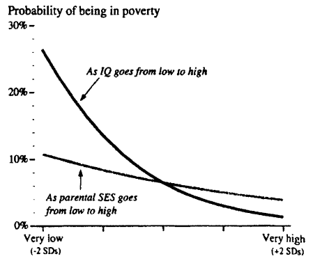 Probability of being in poverty