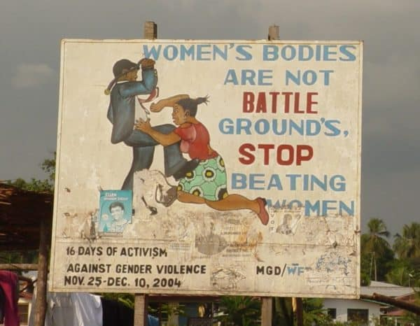 African Billboard About Beating Women