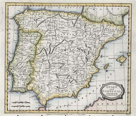 Old Spain Map