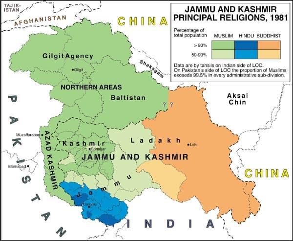 Kashmir Conflict Map
