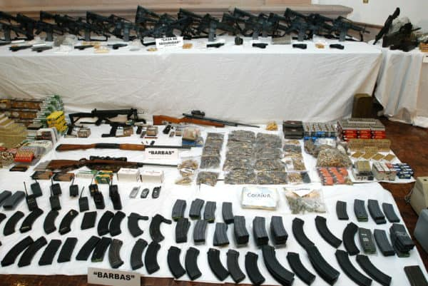 Weapons and Drugs Seized from Los Zetas