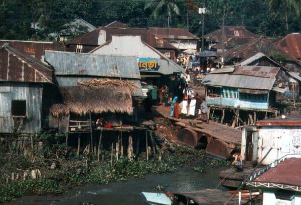 Shanty town in Barisal, Bangladesh