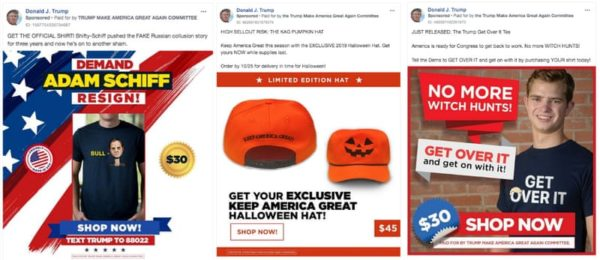 Donald Trump 2020 Merch Facebook Ads