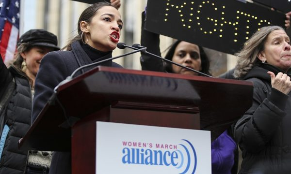 Alexandria Ocasio-Cortez at the Women's March