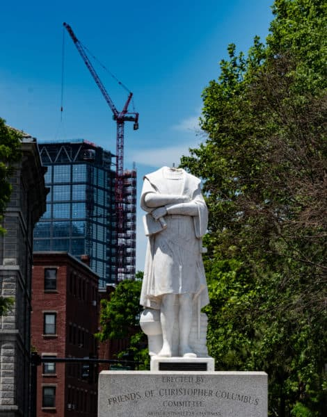 Christopher Columbus statue beheaded in Boston