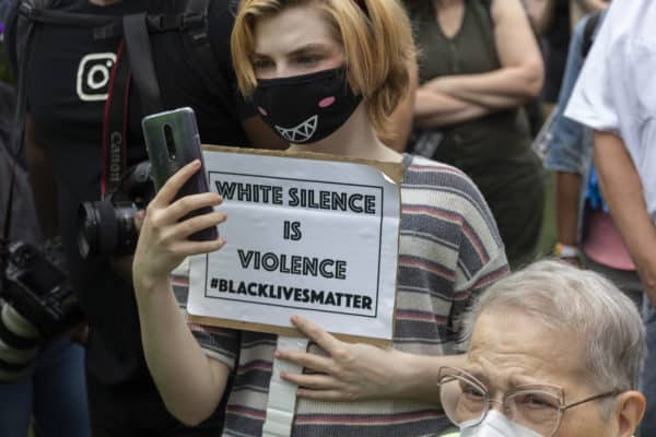 White silence is violence. BLM