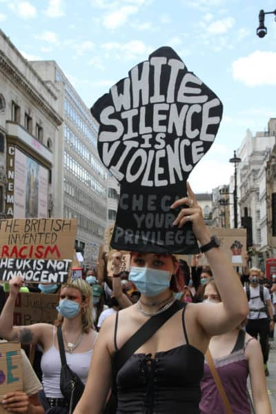 white silence is violence in the UK