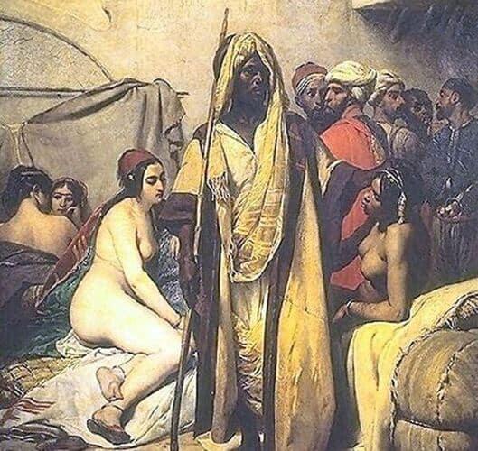Slave Market, by Émile Jean-Horace Vernet, 1836.