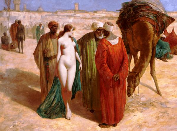 Slave Market, by Eduard Ansen-Hofmann, 1900.