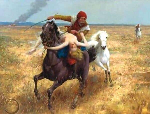 The Abduction, by Eduard Ansen-Hofmann (1820–1904).