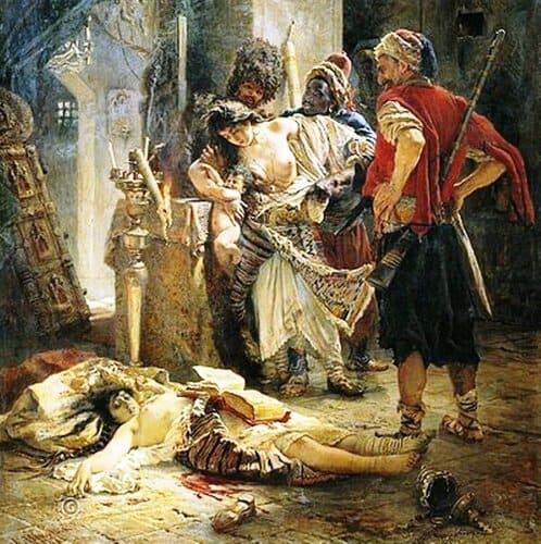 The Bulgarian Martyresses, by Konstantin Makovsky, 1877.