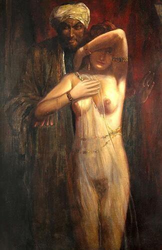 The New Slave Girl, by Eduard Ansen-Hofmann (1820–1904).