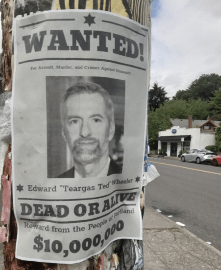 Ted Wheeler wanted poster