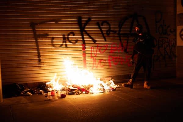 Rioter Arson Portland Oregon