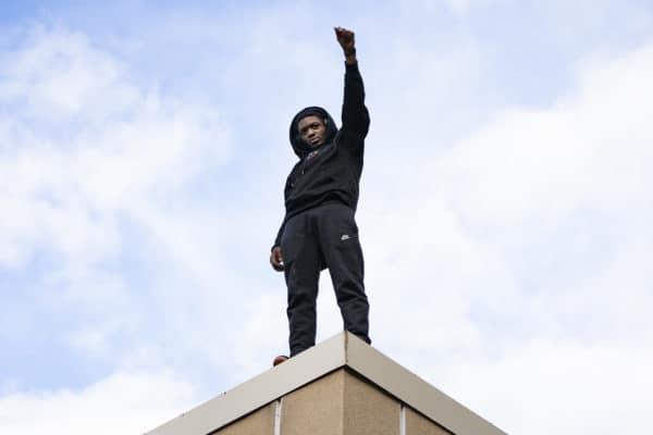 Black Power Fist After Verdict
