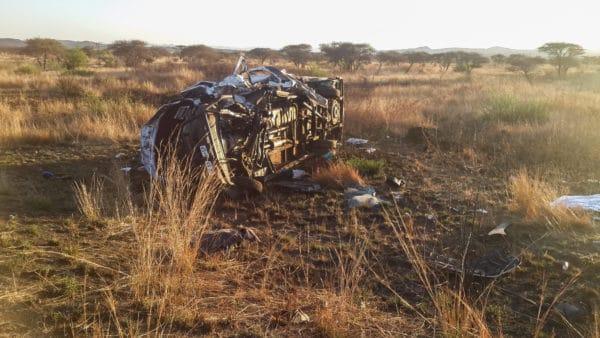traffic accident scene near Johannesburg