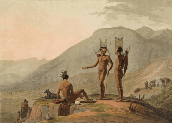 Bush-Men Hottentots armed for an Expedition