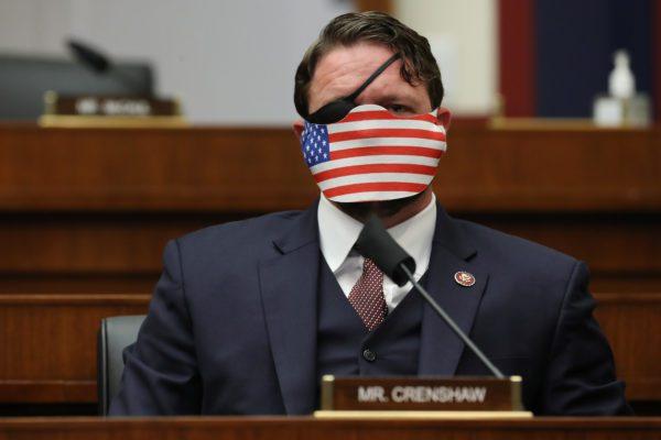 Dan Crenshaw American Flag Facemask