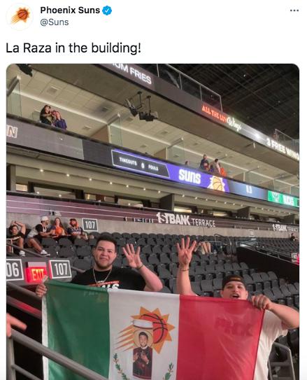 La Raza in the building!