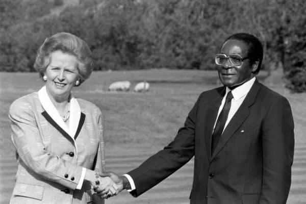 Robert Mugabe and Thatcher