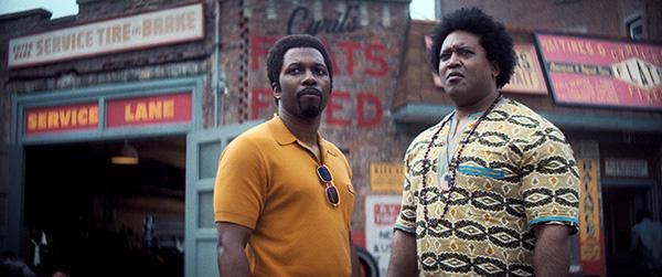 THE MANY SAINTS OF NEWARK (2021) – Leslie Odom Jr. as Harold McBrayer (left) and Germar Terrell Gardner as Cyril. Credit: New Line Cinema / Warner Bros. / Album